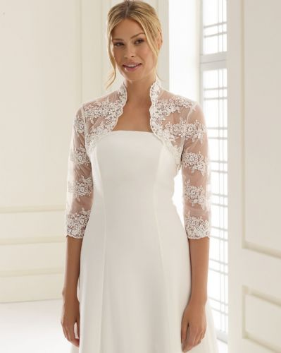 Savannah Lace wedding bolero with three quarter sleeves  bridal jacket
